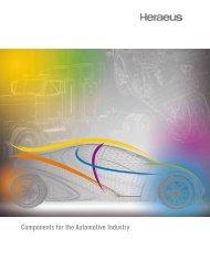 Components for the Automotive Industry - Heraeus Precious Metals