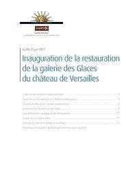 Inauguration de la restauration de la galerie des Glaces du ... - Vinci