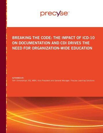 Breaking the code: the impact of icd-10 on ... - HIMSS Analytics