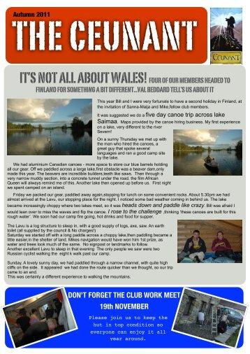 Autumn 2011 Newsletter - Ceunant Mountaineering Club
