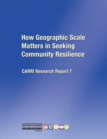 T Wilbanks CARRI Report 7 Final - Community & Regional ...