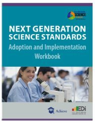 NGSS Adoption and Implementation Workbook - Achieve