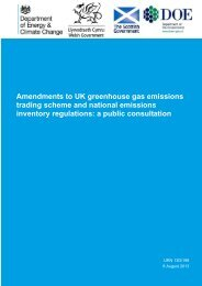 Amendments to UK greenhouse gas emissions trading ... - Gov.UK