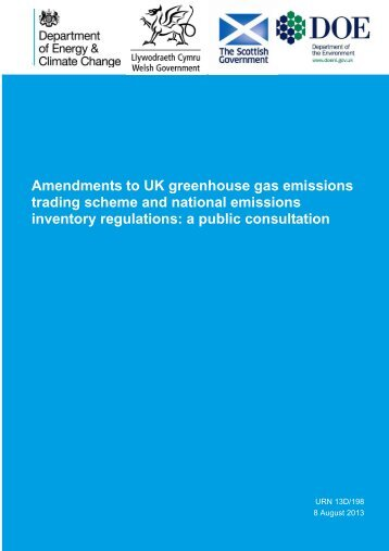 Amendments to UK greenhouse gas emissions trading ... - Gov.UK