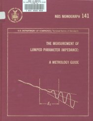 nbs monograph 141 the measurement of lumped parameter ...