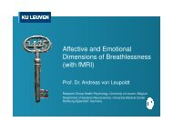 Affective and neural dimensions of breathlessness