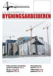 Bygningsarbeideren nr 1 - 2013.pdf - Oslo Bygningsarbeiderforening