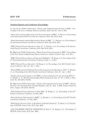 My publications - US Atlas - Brookhaven National Laboratory