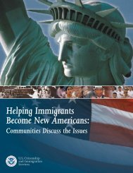 Helping Immigrants Become New Americans: Communities Discuss