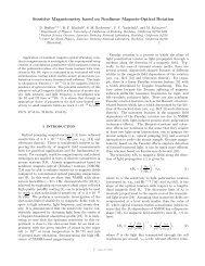 Sensitive Magnetometry based on Nonlinear Magneto-Optical ...