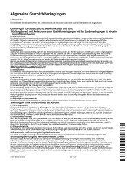 Allgemeine Geschäftsbedingungen (AGB) - GenoBank DonauWald eG
