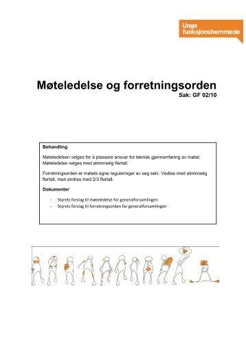 Møteledelse og forretningsorden 2010 (PDF) - Unge ...