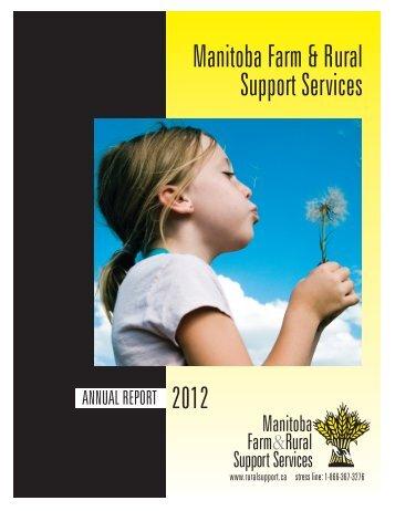 Annual Report - Manitoba Farm & Rural Support Servic