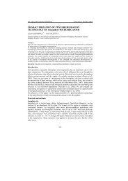 CHARACTERIZATION OF PHYTOREMEDIATION ... - MOKKKA.hu