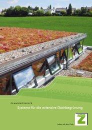"Planungshilfe ""Extensive Dachbegrünung mit System"" - ZinCo"