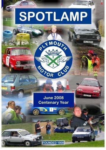 June 2008 Centenary Year - Plymouth Motor Club