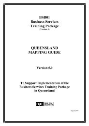 BSB01 Business Services Mapping Guide - Training Queensland ...