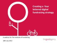 Creating a four lettered digital fundraising strategy - Workcast
