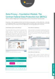 Federal Data Protection Act (BDSG) - Compliance Training