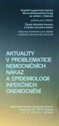 aktuality v problematice nemocničních nákaz a epidemiologii ...