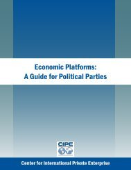 Economic Platforms: A Guide for Political Parties (English)