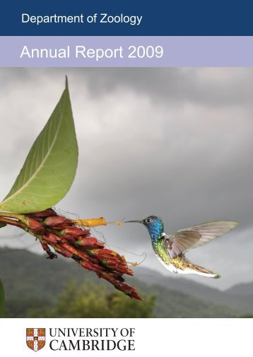 Annual Report 2009 - Department of Zoology - University of ...