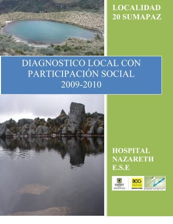 diagnostico local con participacion social - Hospital Nazareth I Nivel ...