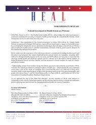 Health Action Lobby (HEAL) - Canadian Psychological Association