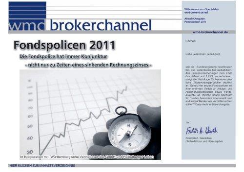 Fondspolicen 2011 - WMD Brokerchannel