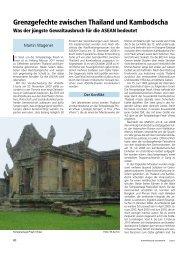 Europäische Sicherheit, Nr. 5, Mai 2011, S. 80-82. - Martin Wagener