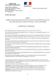L'arrêté préfectoral - Préfecture de région Guadeloupe
