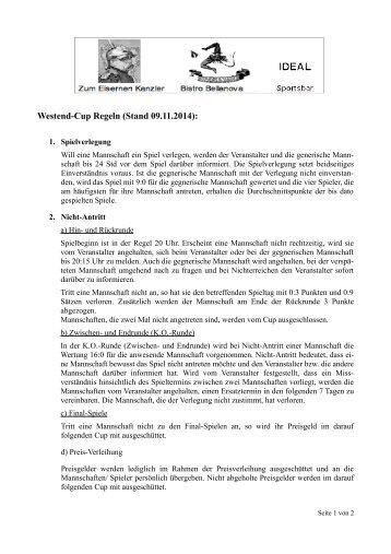 Westend-Cup Regeln (Stand 8.9.2013):