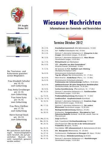 Oktober 2012 - Markt Wiesau