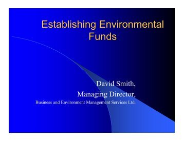Establishing Environmental Funds - Synergos