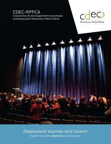 RAPPoRt D'ACtivités 2010-2011 - Cdec-rpp.ca