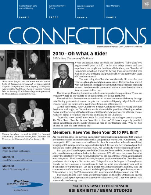2010 - Oh What a Ride! - West Shore Chamber of Commerce