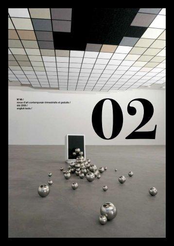 N°46 / revue d'art contemporain trimestrielle et gratuite / été 2008 ...