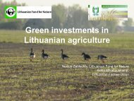 Green investments in Lithuanian agriculture by ... - Baltic COMPASS