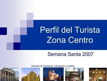 Perfil del Turista Zona Centro