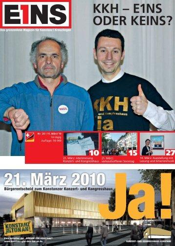 21. März 2010 - E1NS-Magazin