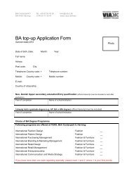 BA top-up Application Form - VIA University College