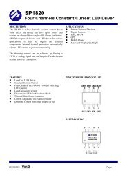 SP1820 Four Channels Constant Current LED Driver