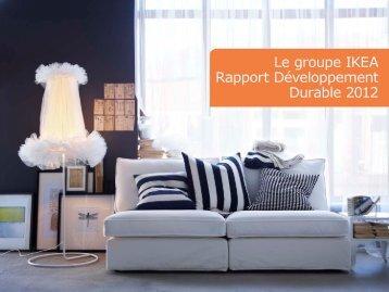 Le groupe IKEA Rapport Développement Durable 2012