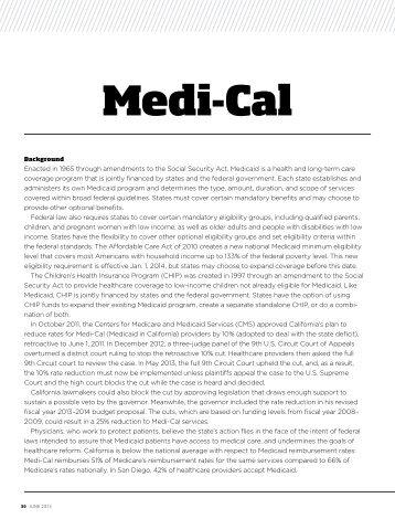 Medi-cal - San Diego County Medical Society