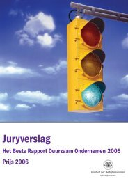 2006 - Award for Best Belgian Sustainability Report