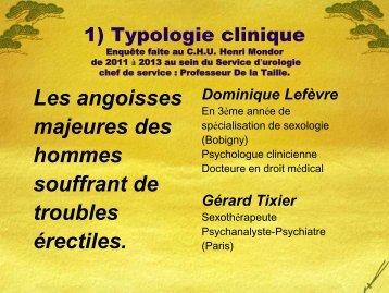 Approche typologique des angoisses majeures chez les ... - FF3S