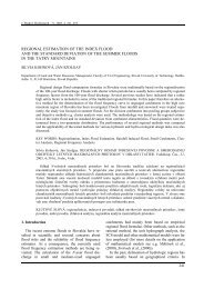 regional estimation of the index flood and the standard deviation of ...