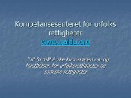 En sammenligning av svensk og norsk forvaltning av rettigheter på ...