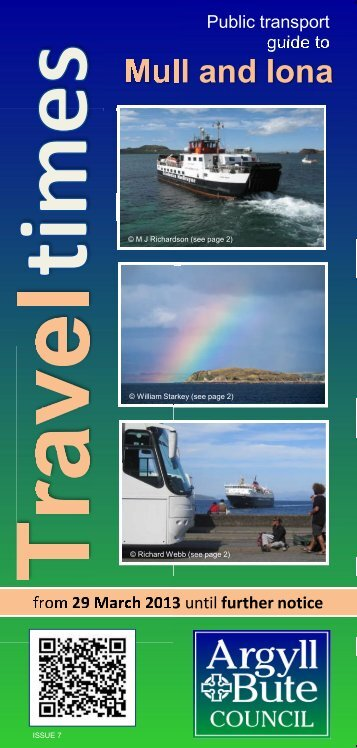 Area transport Guide for Mull and Iona Issue 7 (29 March 2013)