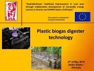 HydroBioPower: livelihood improvement in rural area through ... - Lvia